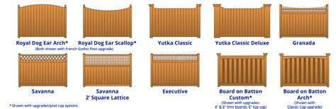 woodworking styles commercial wood fence yutka fence kenosha wi