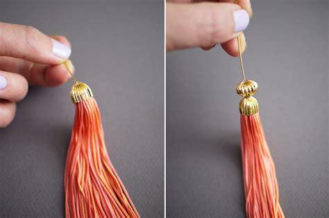 how to make tassels for jewelry diy tassel earrings