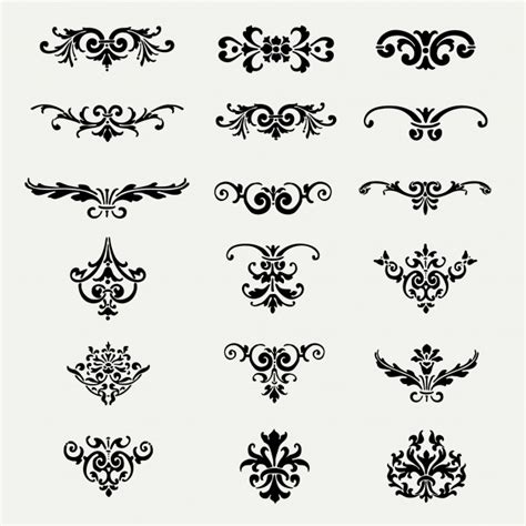 decorations ornaments decorative ornaments collection vector free
