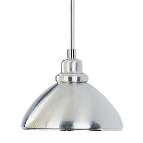 lowes pendant lights shop volume international 8 25 in brushed nickel