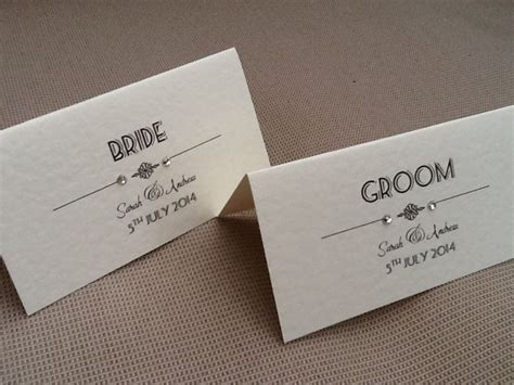 how to make name place cards 10 x handmade personalised vintage deco style name