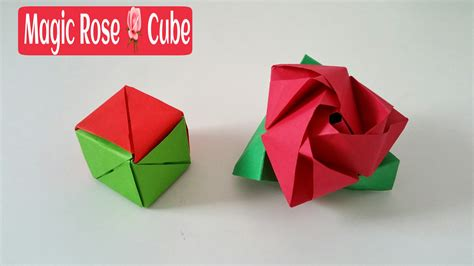 origami cube one sheet origami magic cube diy modular origami tutorial by