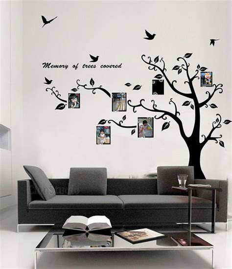 Photo Frame Wall Stickers memory of tree covered photo frame wall sticker