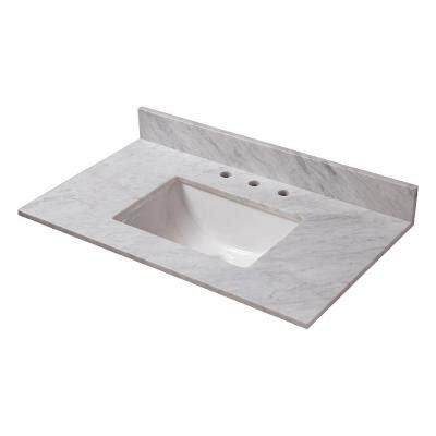 home depot bathroom vanity sink tops home decorators collection 31 in w marble vanity top in