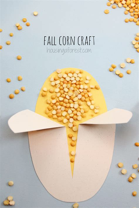 corn crafts for easy corn craft housing a forest