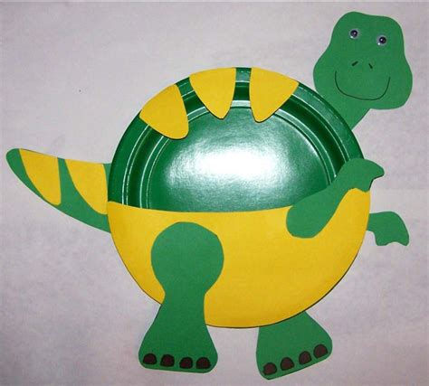 Preschool Crafts For T Rex Paper Plate Craft