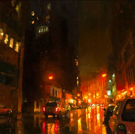 best paint nite nyc brooding cityscapes painted with oils by mann