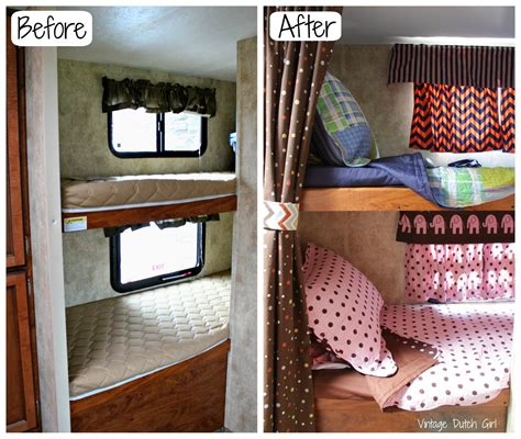 travel bunk beds vintage travel trailer makeover part 9 bunk