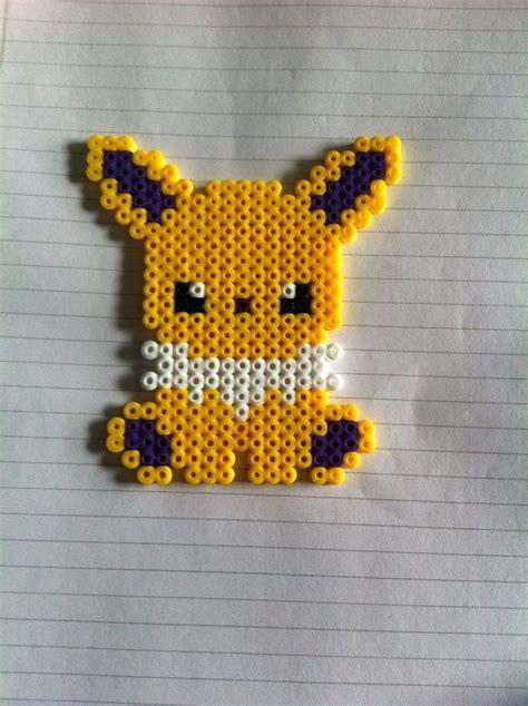 pixel bead jolteon perler by rest in pixels on deviantart