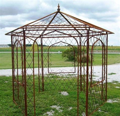 wrought iron pergola kits wrought iron gazebo arbor gazeboss net ideas designs