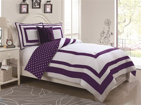 purple polka dot comforter sets 3 hotel juvenile reversible polka dot comforter set