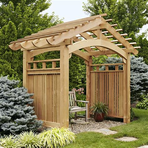 Garden Arbor Plans Arching Garden Arbor Woodworking Plan From Wood Magazine