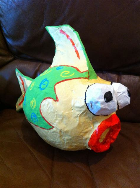 paper mache craft ideas crafts paper mache fish