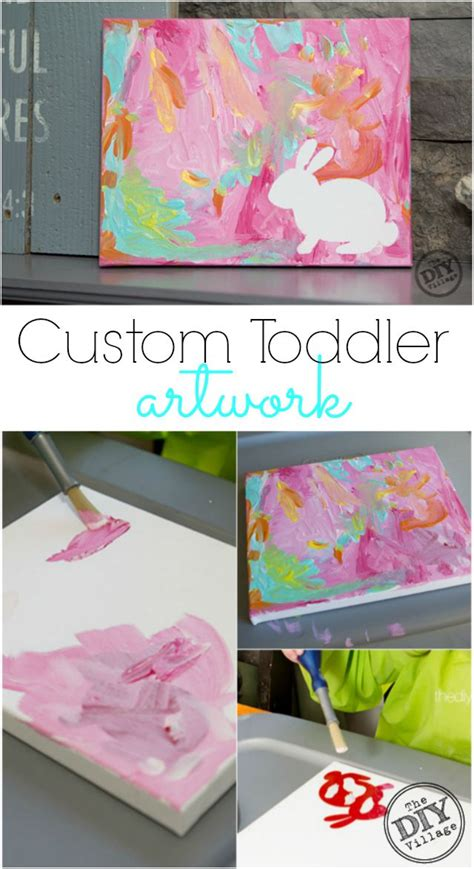 best 25 toddler canvas ideas on footprint