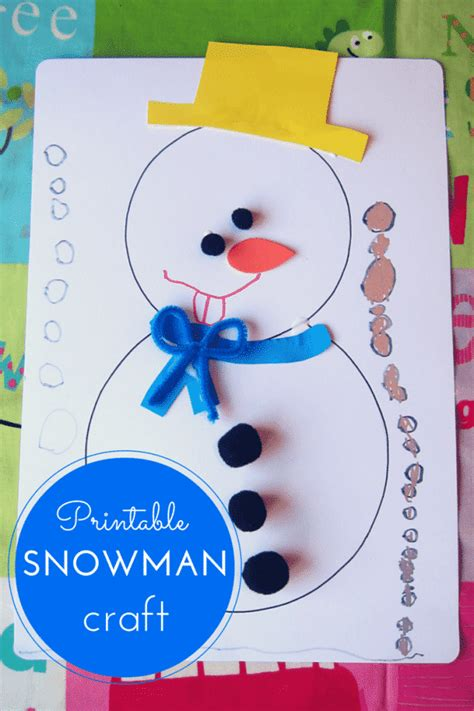 crafts for free printable snowman craft for