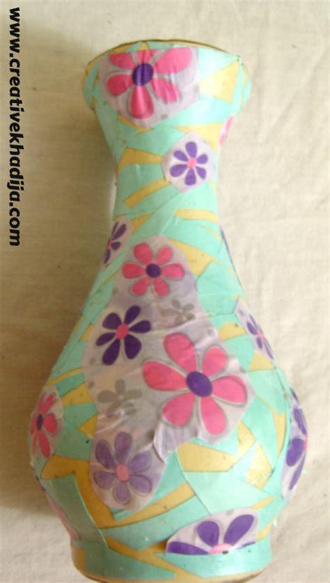 how to decoupage a vase diy decoupaged vase