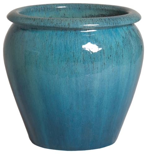 large ceramic planter ghouter planter blue small traditional outdoor pots
