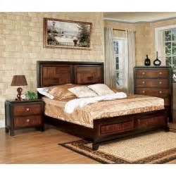 overstock bedroom furniture furniture of america duo tone 2 acacia and walnut