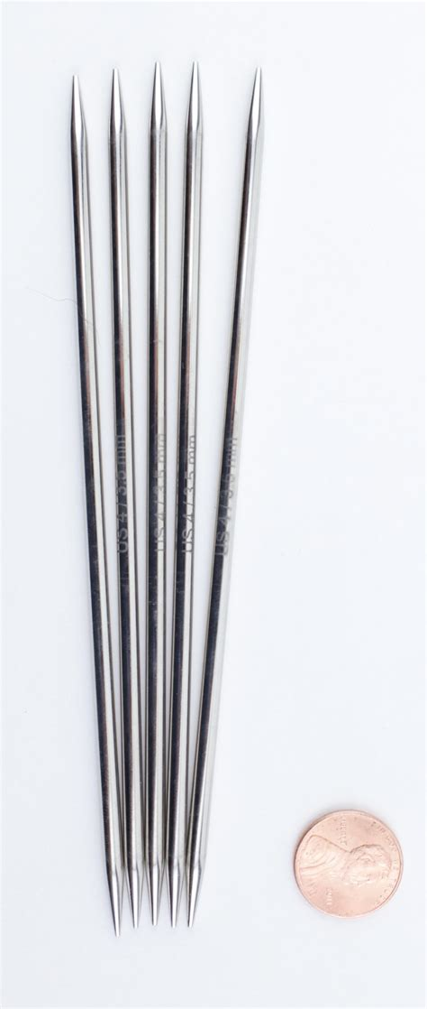 4 pointed knitting needles platina 6 quot point size 4 knitting needles by
