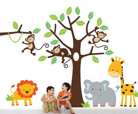 jungle stickers for walls children s jungle wall sticker set by parkins interiors