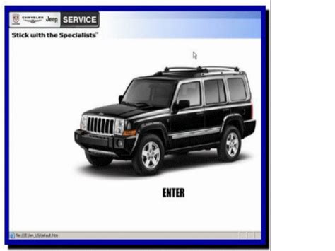 service repair manual free download 2007 jeep commander engine control 2007 jeep commander schematics wiring diagrams image free gmaili net