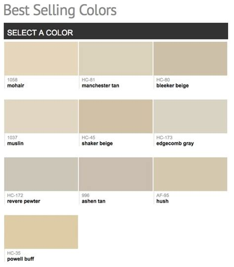 paint colors for benjamin best selling popular paint colors from benjamin