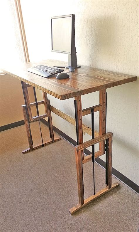 standing desk idea wood diy standing desk ideas for computer minimalist