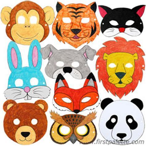 mask craft for printable animal masks craft crafts firstpalette