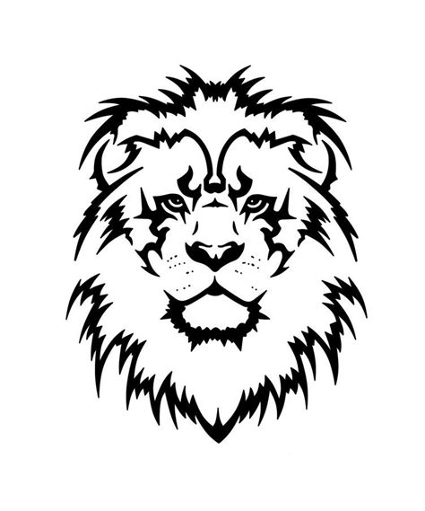 lion head free tattoo
