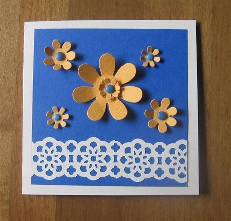pre punched paper for crafts punch flowers cd envelope by carolynn cards