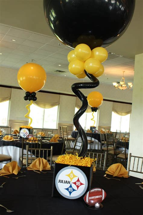 steelers decorations photo cube centerpieces balloon artistry