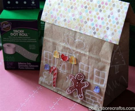 gingerbread house paper craft paper bag gingerbread house family crafts