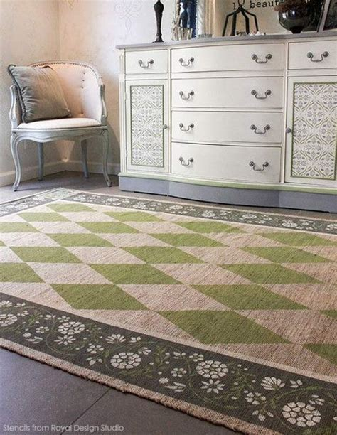 chalk paint jute rug 309 best images about stenciled painted floors on