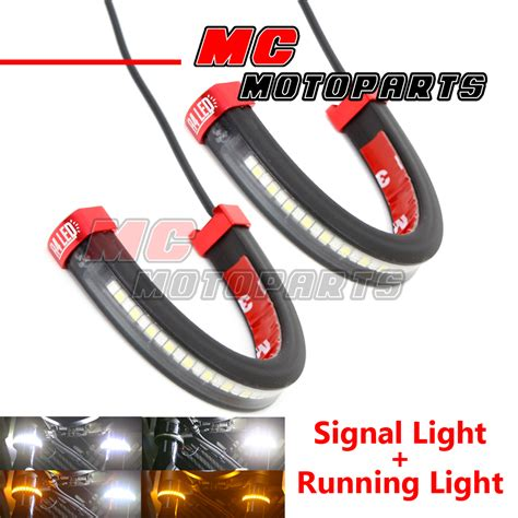 fork lights front fork light led turn signal light indicator for