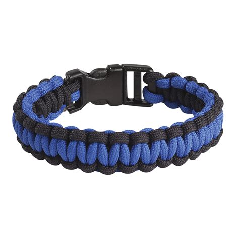 Blue Line Braided Bracelet