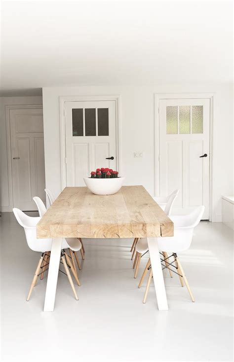 modern style dining tables best 25 white dining chairs ideas on white
