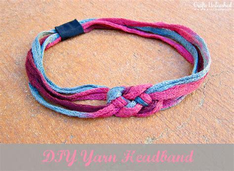 yarn craft for diy headband tutorial made with ruffle yarn