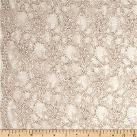lace fabric telio xanna floral lace taupe discount designer fabric