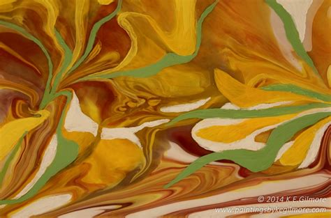 pouring acrylic paint on canvas new layered poured floral painting paintings by k e gilmore
