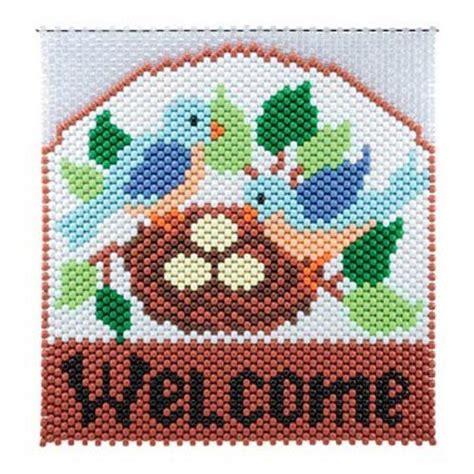 beaded banner kits birds nest beaded banner kit herrschners home toys