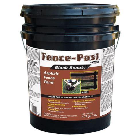 home depot paint protection gardner 4 75 gal black asphalt fence paint 9005 ga