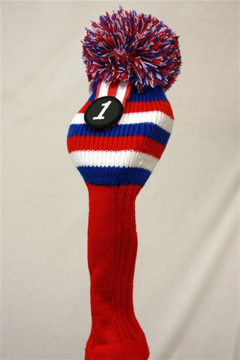 knit headcovers white blue 1 driver headcover usa knit wood