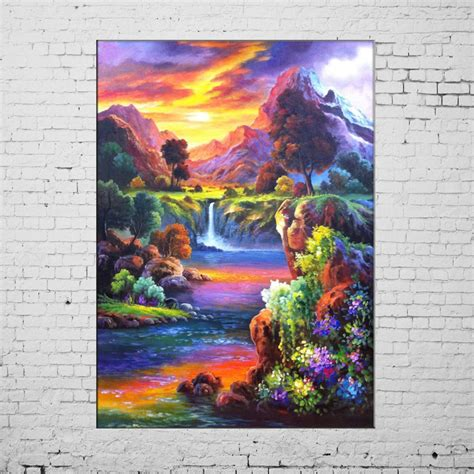 acrylic house paint on canvas aliexpress buy new paintings painted