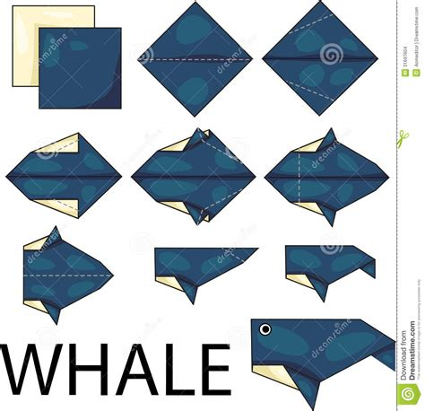 how to make an origami whale origami whale stock images image 31697604