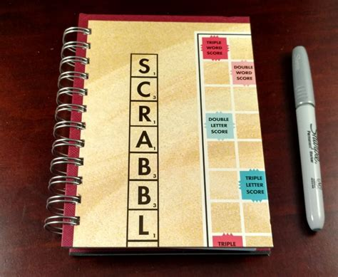 scrabble paper scrabble board notebook paper butterfly forge