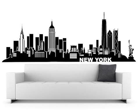 new york skyline wall sticker 25 best ideas about new york decor on print