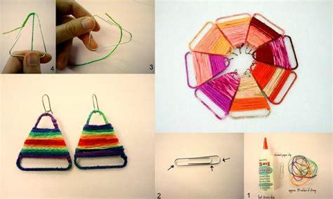 paper clip craft ideas diy paper clip earrings diy projects usefuldiy