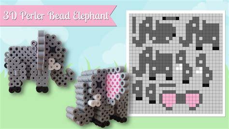 How To Make A Perler Bead 3d Elephant