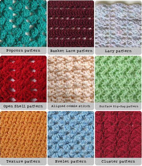 different knit stitch patterns 25 best ideas about different crochet stitches on