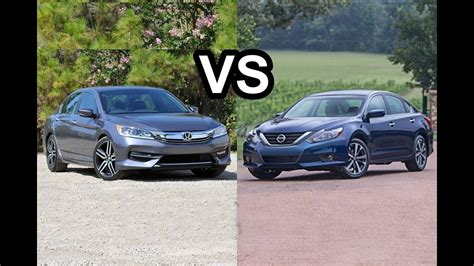 Nissan Accord by 2016 Nissan Altima Vs 2016 Honda Accord Design